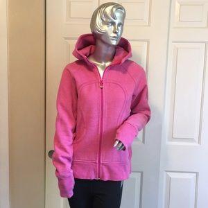 Hot pink sparkly Lululemon Scuba Hoodie